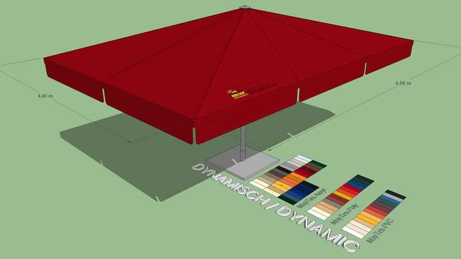 May Albatros 4x6m Rectangular Giant Umbrella