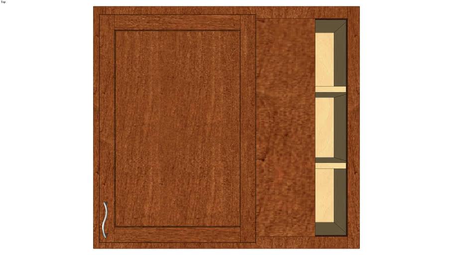 Wall Blind Corner Single Door