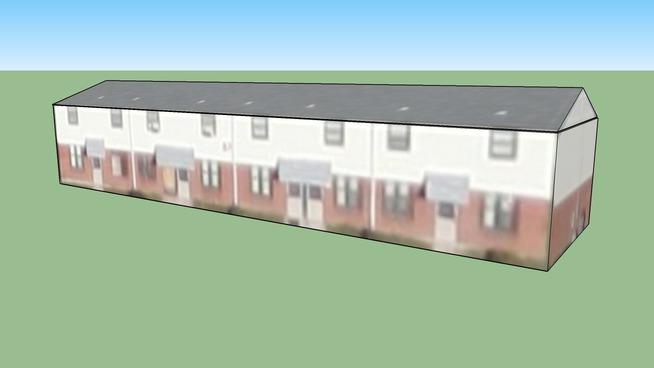 Construção em East Saint Louis, East St. Louis, Illinois, EUA