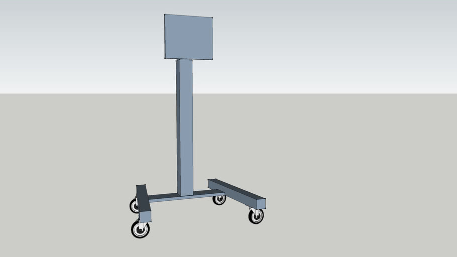 Cart for large monitors