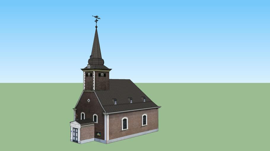 Evangelische Kirche in Grevenbroich Wevelinghoven mit Innenansicht