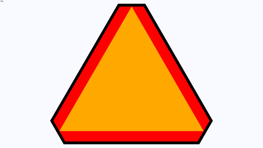3-D Slow Moving Vehicle Emblem