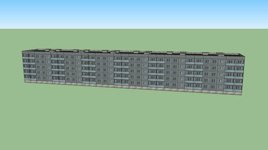 "Soviet ""Lithuanian Project"" apartment block building"