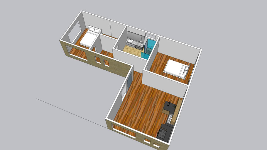 Casa mediterranea72 m2