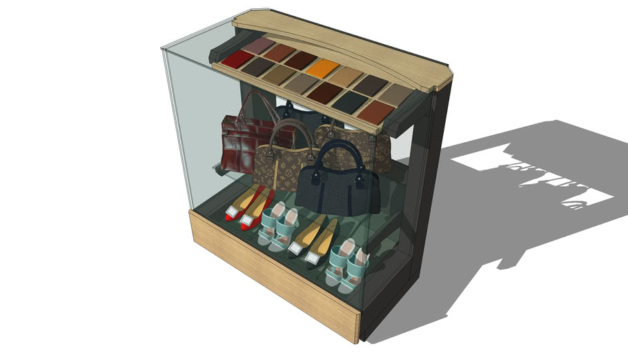 Display case for bags and shoes