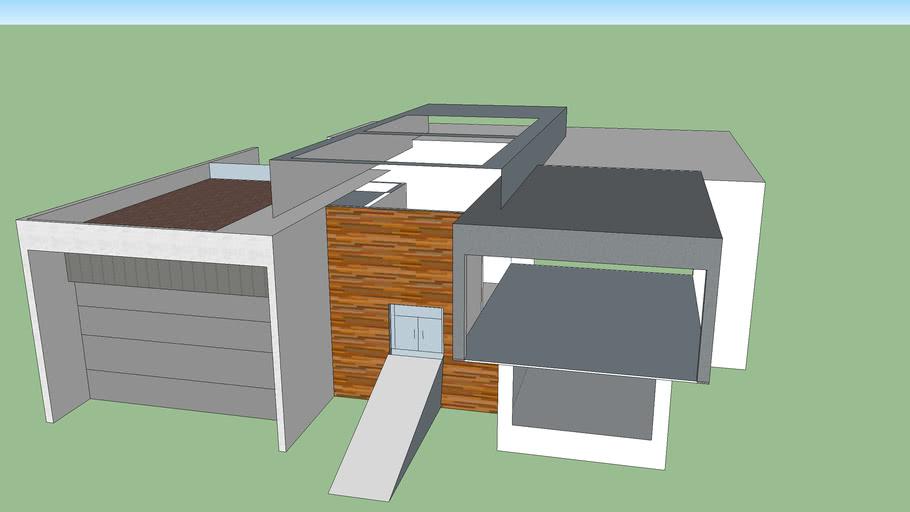 wip of modern house design