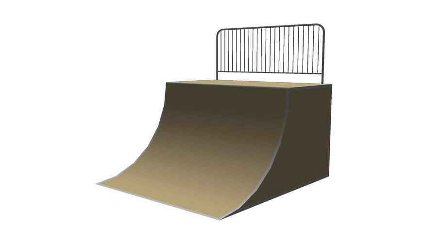 Skate quarter pipe ramp