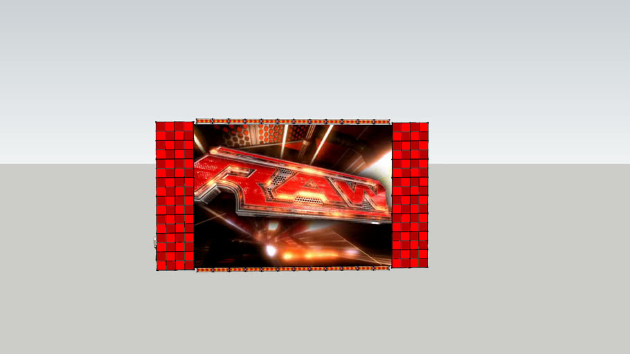 RAW Titantron panels and LED Fixtures