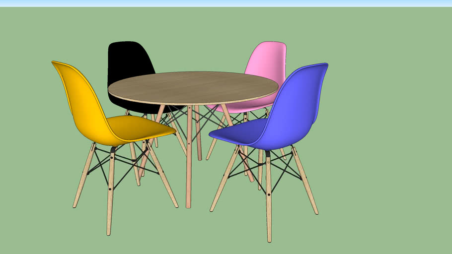 Eames chair and table