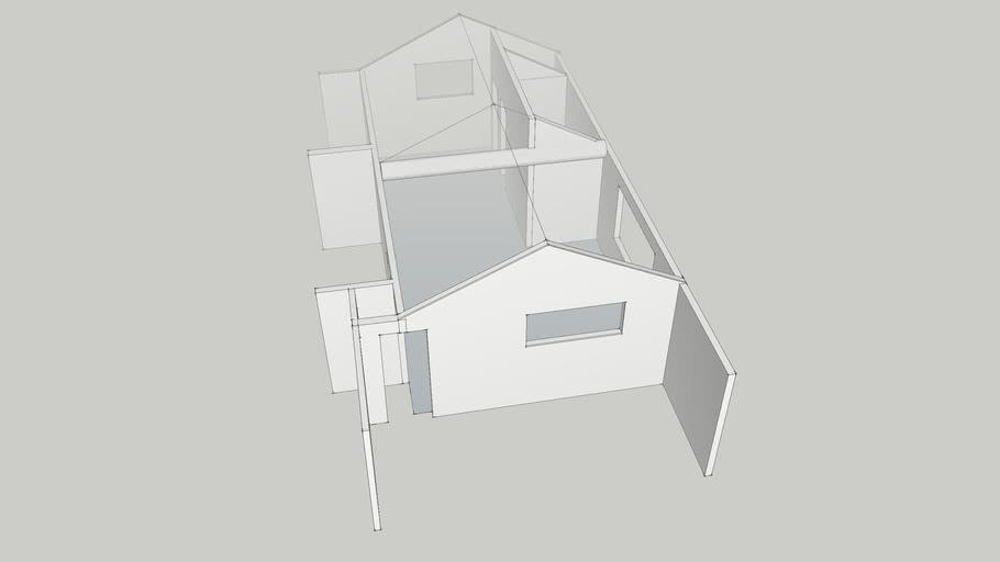 Plan of Merindol guest room, before change