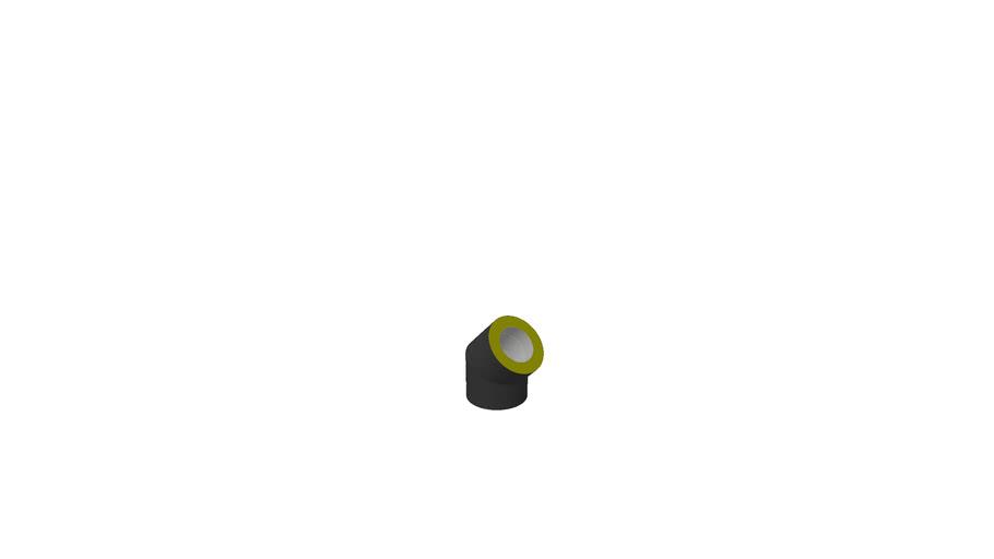 3150060 - Ø150/50 Bend 45gr sort