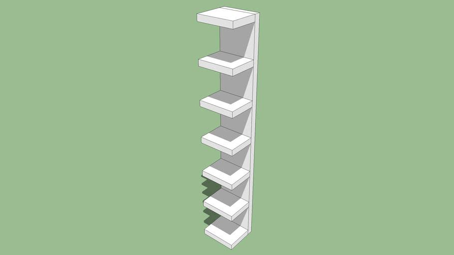Ikea LACK Estanteria de pared 30 x 28 x 190 cm. Bookcase.