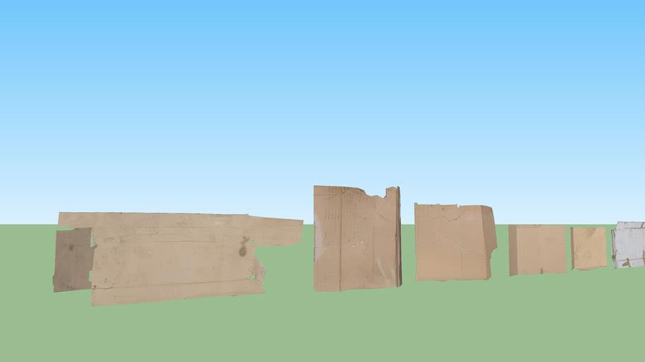 Cardboard clutter set