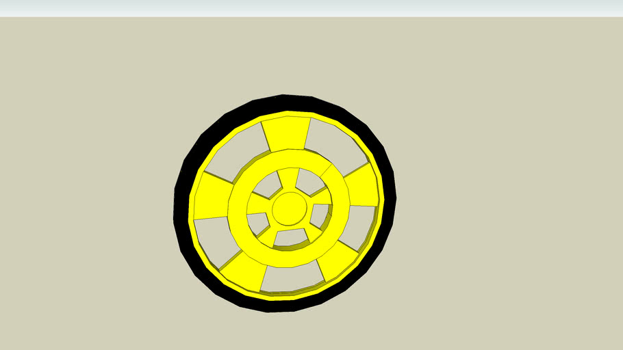 Solarbotics GM Series Plastic Wheel - Yellow