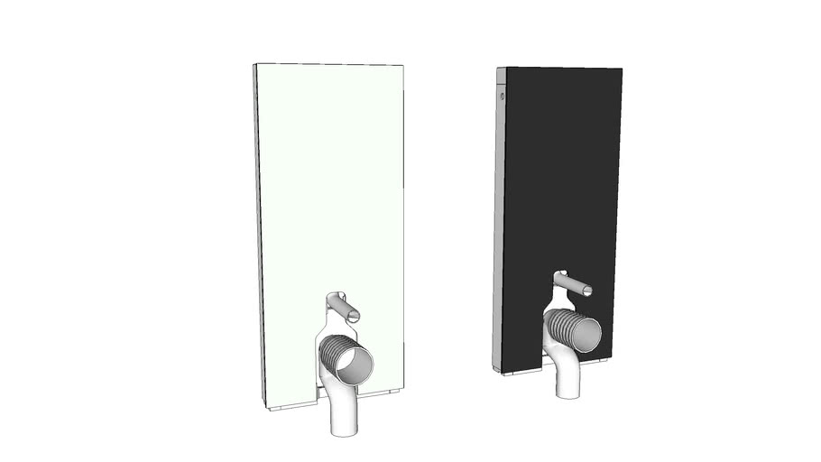 131.033 - Geberit Monolith sanitary module for floor-standing WC, 114 cm, with P-bend, water supply connection, rear centre