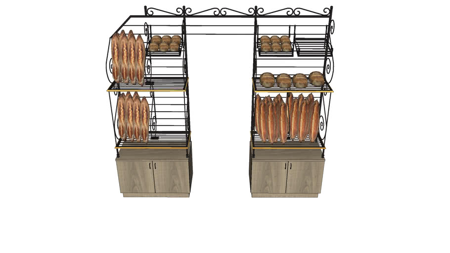 GRILLE fer forge pan coupé