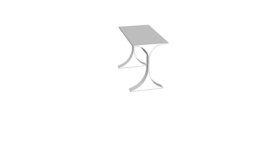Curved leg desk