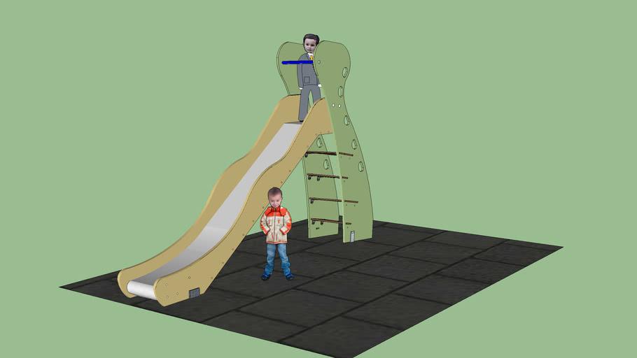 Tobogan para ejercicios infantiles en parque de Areeta