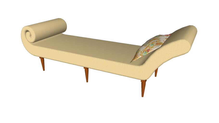 Curl Lounge Couch - Detailed