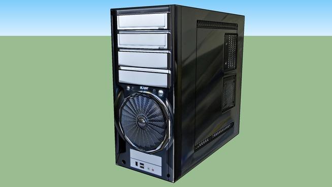 Empty computer case