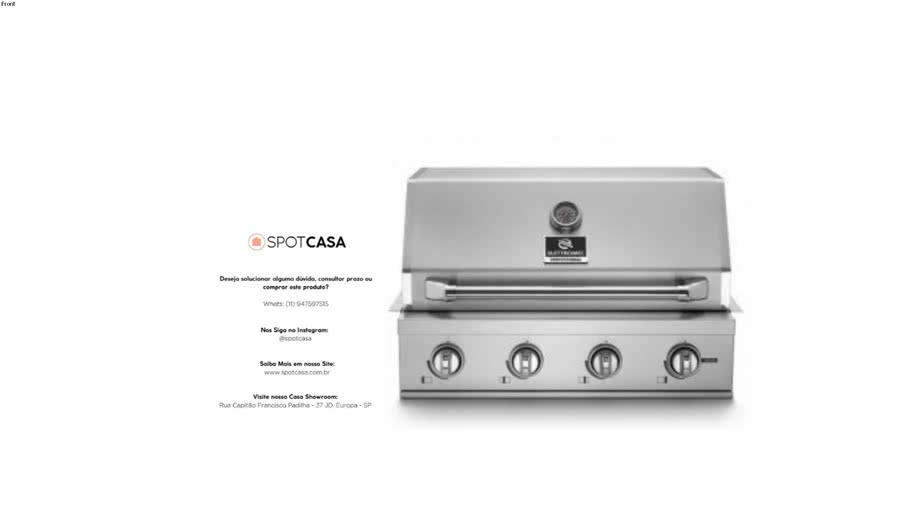 Churrasqueira Professional Gás 75 cm Elettromec