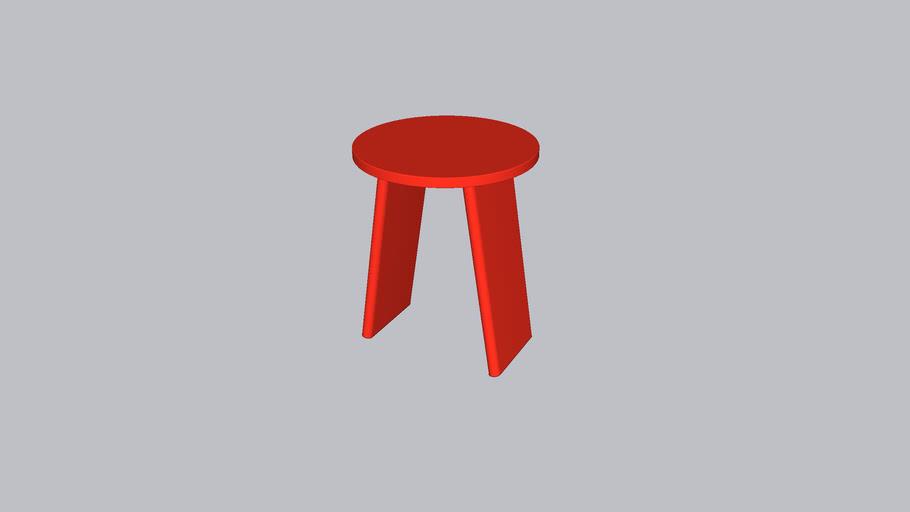 Tau M_Stool_Parsons Red