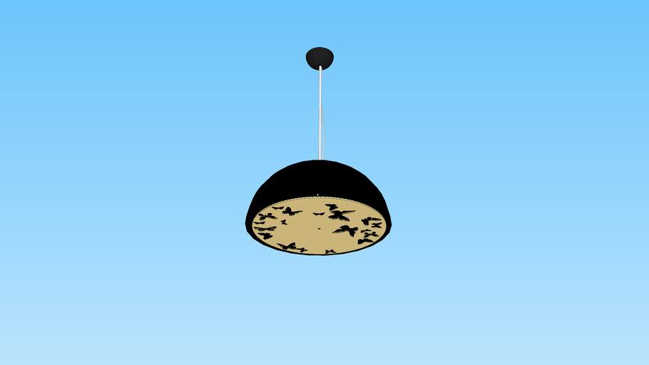 Atitlan, Dome Pendant Lamp Black-Gold