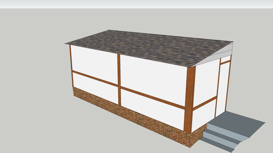 sample shed roof porch