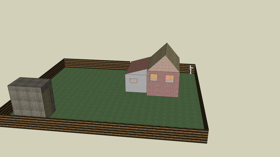 small house with yard and dunny