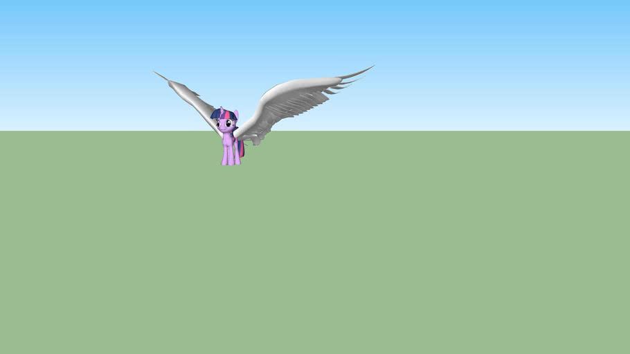 Alicorn Twilight Sparkle (Big wings)