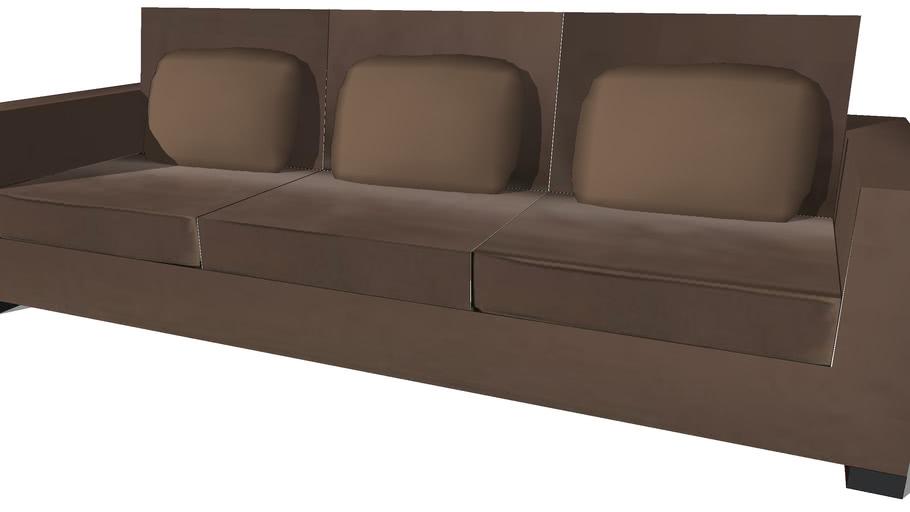 Milano,canapé 4 places chocolat,Maisons du Monde, 501.80512, prix: 890€