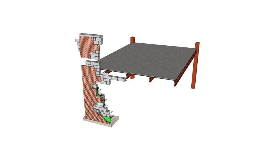 Steel frame on Load Bearing Masonry