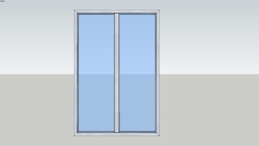 Porte-fenêtre 2 vantaux oscillo-battante - SOLEAL Minimal Chant clippable