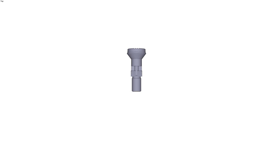 Index pin with plastic head finish...untreated indexing pin form C - M16 x15