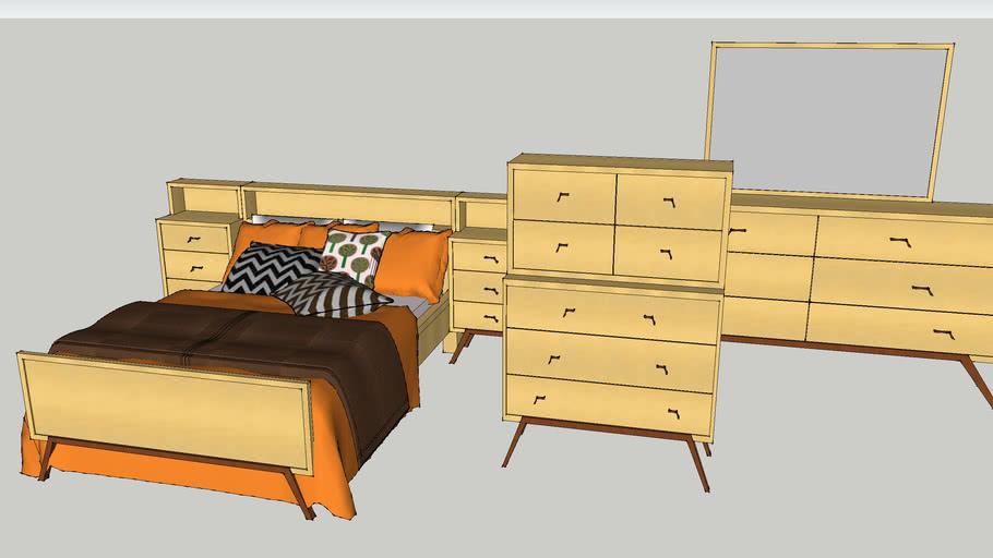 Mid-Century 1950s Bedroom Suite