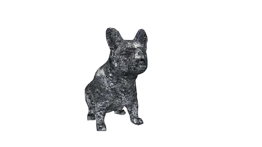 51039 Deco Object Crystal Sitting Dog Small