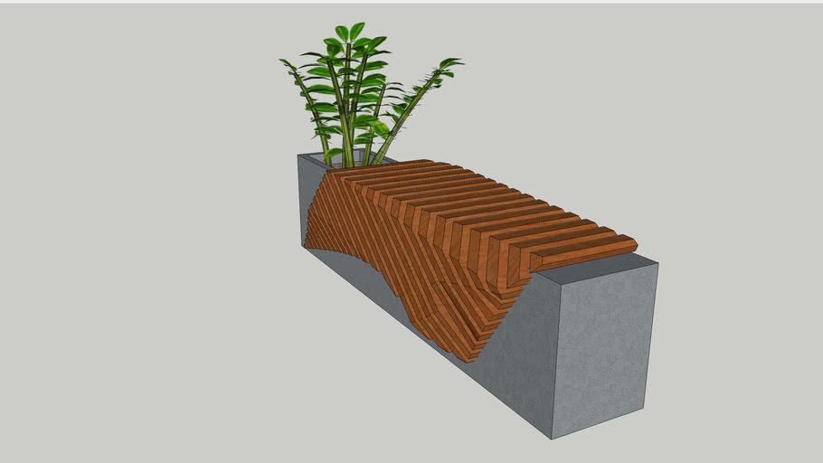 欧文板凳Qwen's works_Carved bench.skp