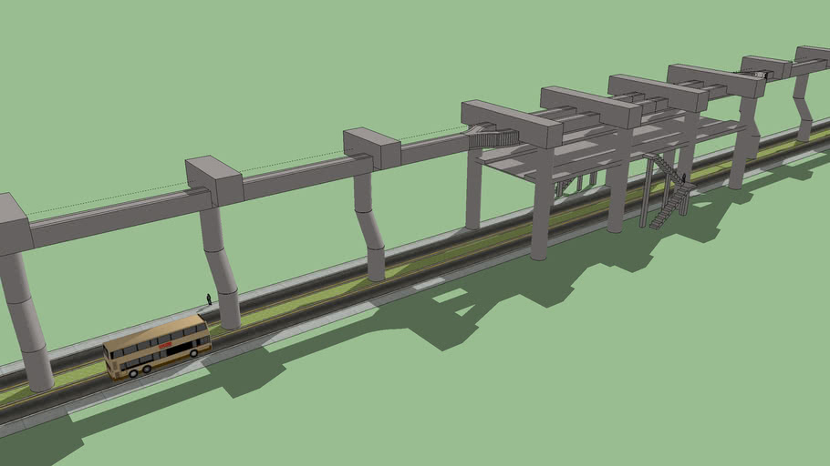 SAFEGE Monorail Track Structure