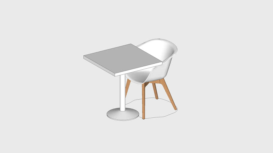 1P 70x70 SQUARE CAFE TABLE