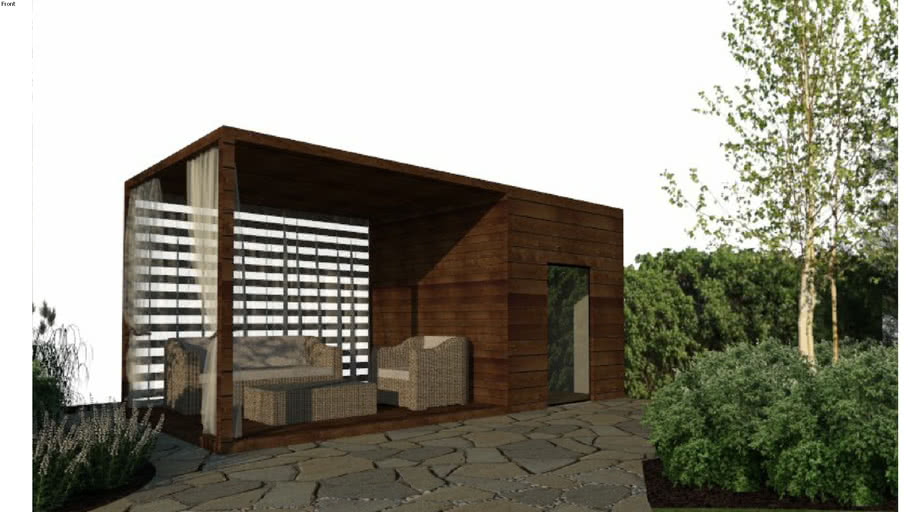 Garden House Terrace House Small Garden Lounge 3d Warehouse