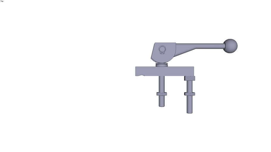 Double cam clamp - 100 x 25 x 16 mm