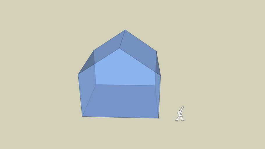 Durchsichtiges Haus
