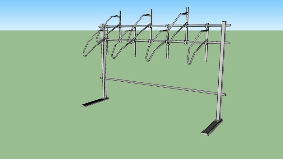 "Vertical+ No Scratch® Floor System Bike Rack - 7 Bike Single Side - 16"" Spacing"