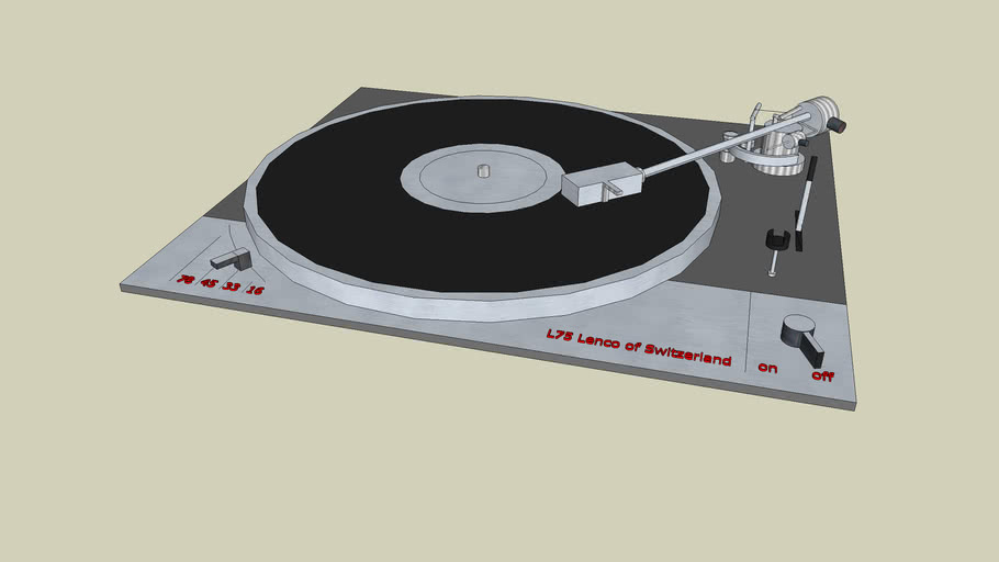 Lenco L75 Turntable - Platter with arm and base-plate
