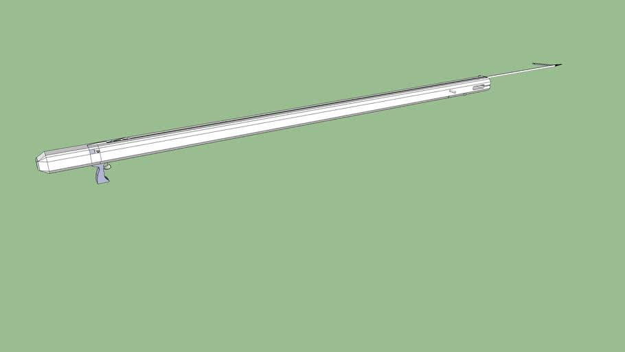 3 bands rubber speargun
