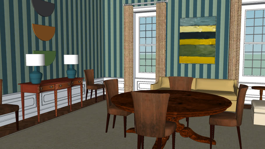 The White House interior : The family dining room
