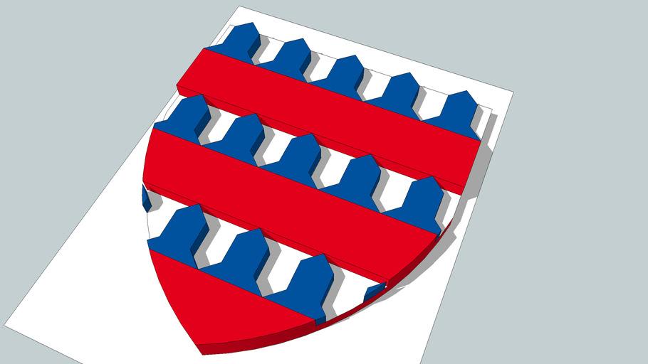 Blason de la Ville de Coucy le Château 3D
