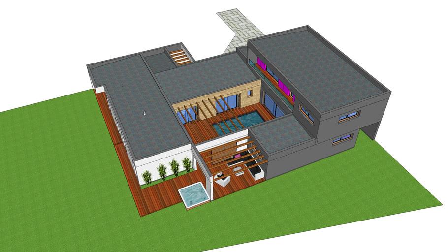 Maison Patio Version Avec Etage 3d Warehouse