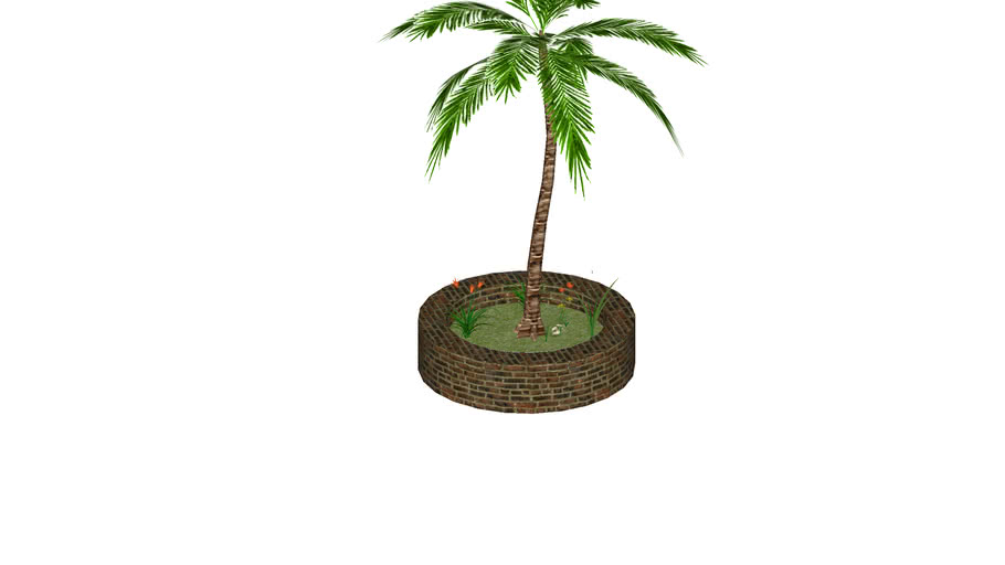 patch with palm tree