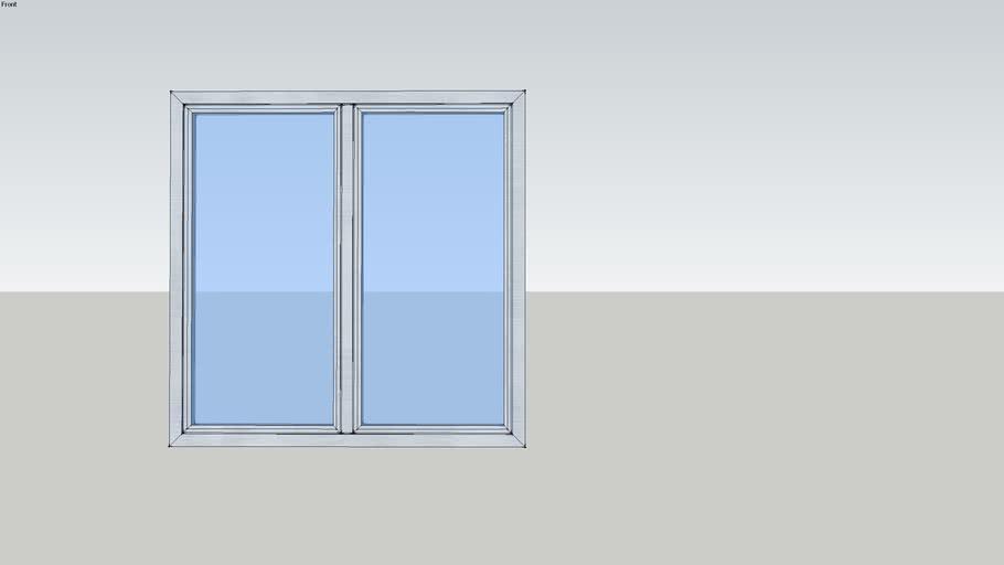 Fenêtre à la française oscillo-battante 2 vantaux - SOLEAL Equilibre ouvrant apparent